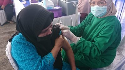 Warga yang Ikuti Vaksin di Posko Rezka Oktoberia, Berpesan Jangan Takut di Vaksin